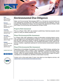 Free, Downloadable Literature Environmental Due Diligence